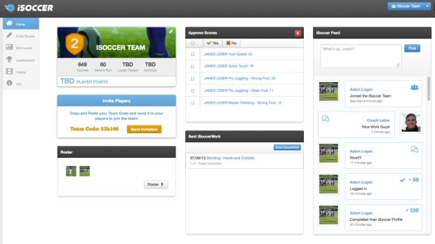New Coach Dashboard